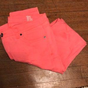 Hurley '81 skinny hot pink jeans pants 29